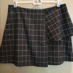 Plaid Grey Skirt